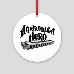 Harmonica Hero Ornament (Round)