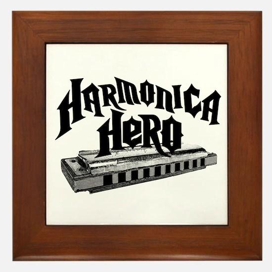 Harmonica Hero Framed Tile