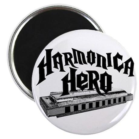 "Harmonica Hero 2.25"" Magnet (10 pack)"