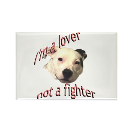Moo the Pitboo Spreads Dog Fi Rectangle Magnet (10