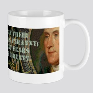 Thomas Jefferson on Tyranny v Mug