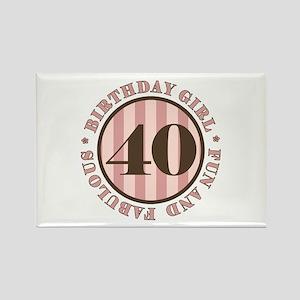 Fun & Fabulous 40th Birthday Rectangle Magnet