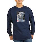 Majesty the Tiger Long Sleeve Dark T-Shirt