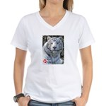 Majesty the Tiger Women's V-Neck T-Shirt