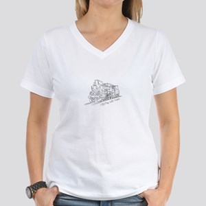 Still Play with Trains Women's V-Neck T-Shirt
