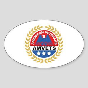 American Veterans Oval Sticker