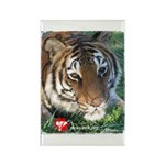 Mookie the Tiger Rectangle Magnet