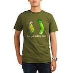 Funny Food Organic Men's T-Shirt (dark)