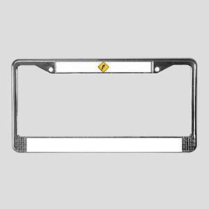 Drunk Crossing License Plate Frame