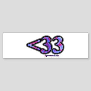 <33 Sticker (Bumper)