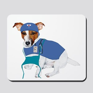 JRT Humor Doctor Dog Mousepad