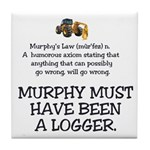 Murphy's Law Tile Coaster