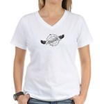 DownwardSpiral2 Women's V-Neck T-Shirt
