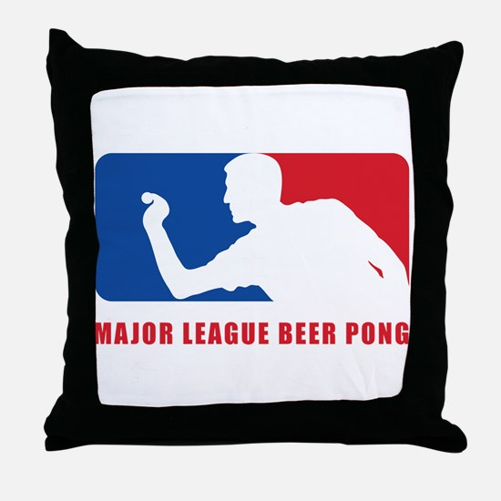 Major League Beer Pong Throw Pillow