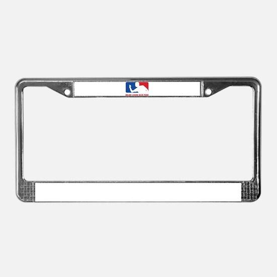 Major League Beer Pong License Plate Frame