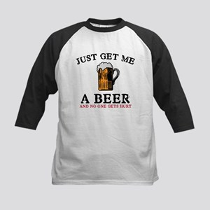 Just Get Me A Beer Kids Baseball Jersey