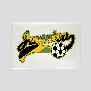 Jamaica Soccer Rectangle Magnet