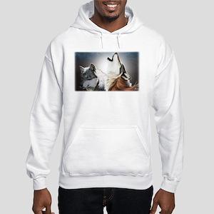 Wolf Face Hooded Sweatshirt