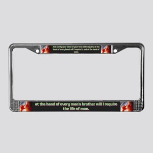Genesis 9:5 License Plate Frame