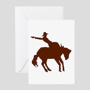 BRONC *ray* Greeting Card
