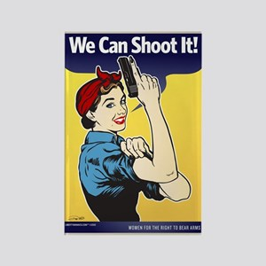 We Can Shoot It! Rectangle Magnet