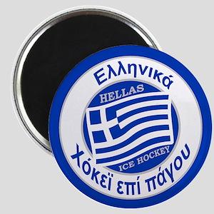 Greece Hellas Ice Hockey Magnet