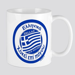 Greece Hellas Ice Hockey Mug