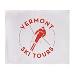 Vermont Ski Tours - Logo Throw Blanket