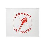 Vermont Ski Tours - Logo Throw Blanket