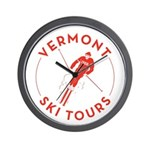 Vermont Ski Tours - Logo Wall Clock