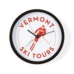 Vermont Ski Tours - Logo Wall Clock