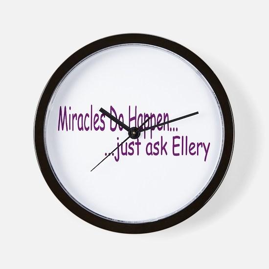 Miracles Do Happen Wall Clock