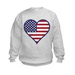 American Flag Heart Kids Sweatshirt