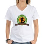Ladies - Hug A Logger Women's V-Neck T-Shirt