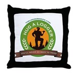 Ladies - Hug A Logger Throw Pillow