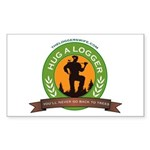 Ladies - Hug A Logger Sticker (Rectangle)