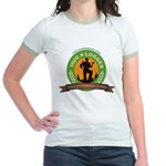 Ladies - Hug A Logger Jr. Ringer T-Shirt