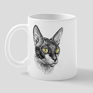 Cornish Rex Sketch Mug