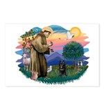 St Francis #2/ Schipperke #4 Postcards (Package of