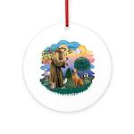 St Francis #2/ R Rback #2 Ornament (Round)