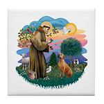 St Francis #2/ R Rback #2 Tile Coaster