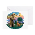 St Francis #2/ R Rback #2 Greeting Cards (Pk of 20