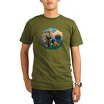 St Francis #2/ R Rback #2 Organic Men's T-Shirt (d