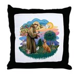 St Francis #2/ R Rback #2 Throw Pillow