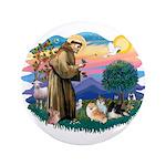 St Francis #2/Pomeranians(3) 3.5