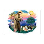 St Francis #2/Pomeranians(3) Mini Poster Print