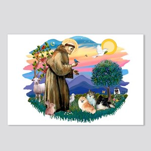 St Francis #2/Pomeranians(3) Postcards (Package of