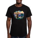 St Francis #2/Pomeranians(3) Men's Fitted T-Shirt