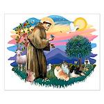 St Francis #2/Pomeranians(3) Small Poster