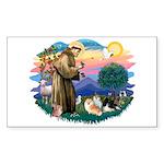 St Francis #2/Pomeranians(3) Sticker (Rectangle 10